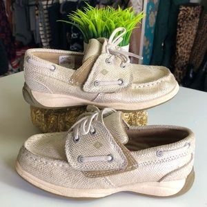 Toddler Girls Snakeskin Style Sperry Boat Shoes
